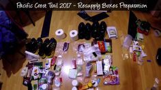 PCT 2017  * Day -5: Resupply Boxes Preparation (Essentials)