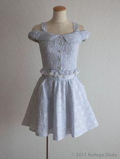 LIZ LISA Coordinated Cambric Setup Open-shoulder TOPS / SKIRT Hime Lolita 109 #LizLisa