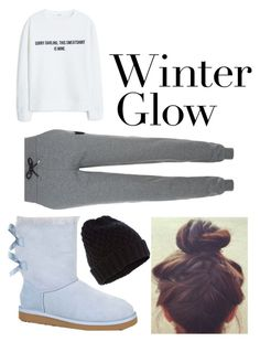"""""""Winter Outfit"""" by unicorn-narwhal ❤ liked on Polyvore featuring MANGO, Karl Lagerfeld, UGG Australia, Accessorize, women's clothing, women, female, woman, misses and juniors"""