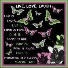 Julia's Creations: Live, Love and laugh