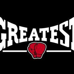 The Greatest (white on black)  cool design for boxing, gym and sportswear... or just a cool t-shirt  #boxing #sportswear #gymwear #t-shirt #giftidea #giftideas #menswear #ladieswear #mensfashion #womenswear #womensfashion #fashion #clothing