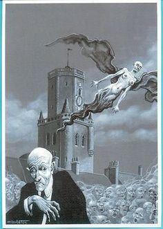 NICOLLET-Ex-Libris-Le-Vampire-de-La-Tour-Sombre-XL-Signe-2005-NEUF