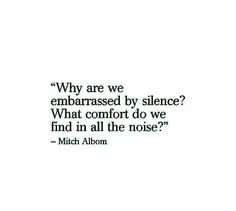 """Why does it say """"awkward silence""""? We are just used to those everyday noises. We are used to peoples voices, underground and tram sounds, those loud traffic noises. While silence can be so calm and relaxing."""