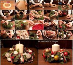Piękny stroik na świąteczny stół - Krok po kroku...