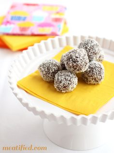 Chocolate Freezer Fudge Truffles - 5 ingredient, nut & dairy free