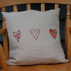 Handmade Linen And Liberty Print Cushion