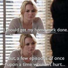 Emma is such a procrastinator. once upon a time.