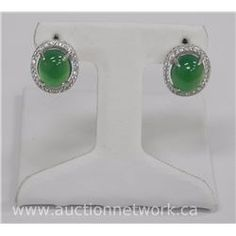 Mira Silver Custom Cabochon Earrings Swarovski Elements