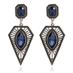 Hot Sale Women Temperament Retro Exaggeration Earrings Drop Earrings boucle d'oreille Crystal Earrings Eardrops orecchini donna