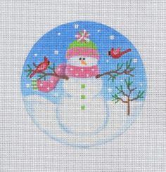 SN27 - Snowman with Birds