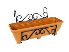 ornate fence hanging planters   Pot Holders >> Balcony & Wall Planters >> Balcony/Fence Holder