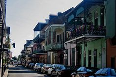 The French Quarter, Vieux Carre in New Orleans, LA