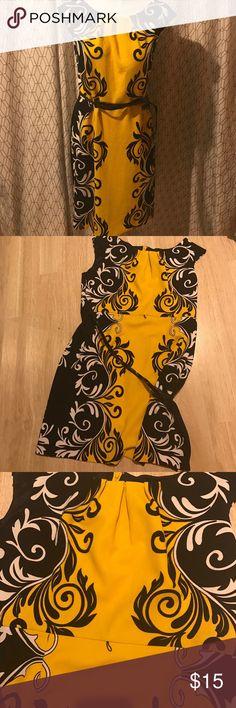 ILE dress Yellow and black ILE New York dress. Only worn a few times. ILE New York Dresses