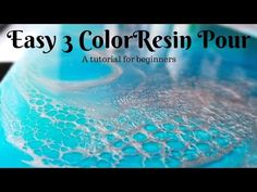 Beginner's EASY 3 color pour (oceanscape, seascape, waterscape or even skyscape) - YouTube