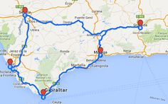 Route durch Andalusien