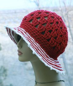 Check out this item in my Etsy shop https://www.etsy.com/listing/269280147/womens-crochet-hat-wide-brim-sun-hat