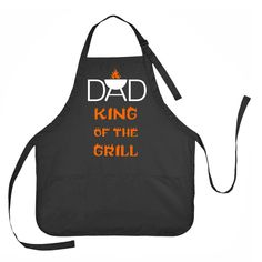 Dad King of the Grill Apron, Pa Pa King of the Grill Apron, Fathers Day Apron, Grilling Apron Grandpa Gifts, Gifts For Dad, Fathers Day Gifts, Fathers Day Sayings, Father Presents, Diy Father's Day Gifts Easy, Father's Day Diy, Diy Gifts, Unique Gifts