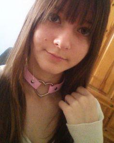 Instagram media by babybaozi99 - Me encanta el choker ;w; muchisimas gracias mamaaa @seibriel TwT <3 #selfie #happy #choker #cute #heart
