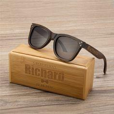 b3eebb4378 Personalized Polarized Bamboo Wood Sunglasses Wooden Sunglasses, Engraved  Unisex Sunglasses, Mens Gift, Groomsmen Gift, Groomsmen Sunglasses