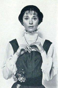 Audrey durante a produação de My Fair Lady, 1963