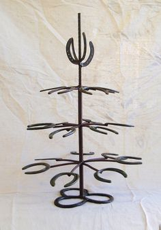 Metal Horse Shoe Christmas Tree  By Horse Shoe Paul on Etsy