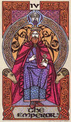 IV. The Emperor  - Celtic Tarot by Courtney Davis & Helena Paterson
