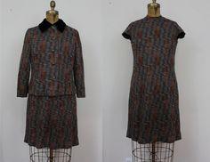 1960s Dress Set / 60s Suit / 60s Dress and by livinvintageshop