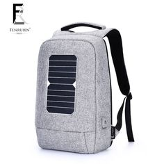 1d2fed7624e1 FENRUIEN solar charging backpack men s 15.6-inch computer bag  multi-function anti-theft backpack male casual business travel bag Review