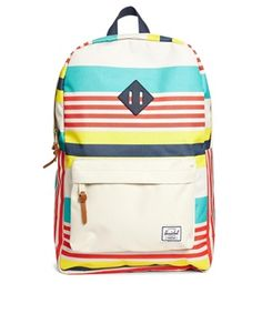 Buy Herschel Heritage Malibu Backpack in Stripe at ASOS. With free delivery and return options (Ts&Cs apply), online shopping has never been so easy. Get the latest trends with ASOS now. College Bags, Rucksack Backpack, Herschel Heritage Backpack, Clothes Horse, Asos Online Shopping, Latest Fashion Clothes, Purses And Bags, Women Wear, Backpacks