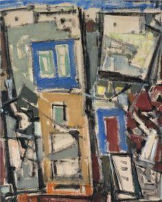 Σπυρόπουλος Γιάννης-1912-1990.Landscape with houses
