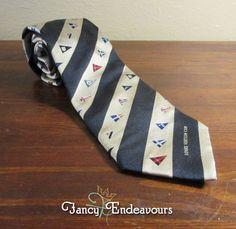 Louis Vuitton Paris America's Cup Nautical Flags Silk Necktie Tie #LouisVuitton #Tie