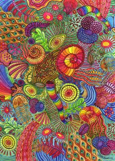 Doodle Zentangle Greeting Cards by dlnquentunicorn on Etsy, $12.00