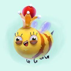 ueen Bee #bee #summer #procreate #procreateapp #sketch #sketches #sketchbook #drawing #painting #illustration #childrensbook #Kidlitart