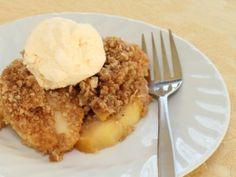 Receta de Pastel de Manzana con Helado de Vainilla