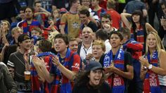 Nathan Tinkler with fans at the last Jets home game of the season.  Picture: Max Mason-Hubers