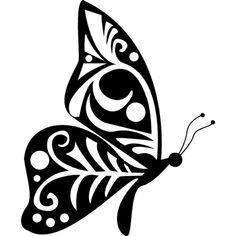 Stammes-Flügel-Design Schmetterling Seitenansicht Kostenlose Icons