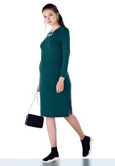 Ebru Maternity Dress - Ebru Hamile Giyim Elbiseler Shop Online www.ebrumaternity.com The Dress, High Neck Dress, Maternity Dresses, Dresses For Work, Shopping, Fashion, Moda, Maternity Gowns, Maternity Beach Dresses