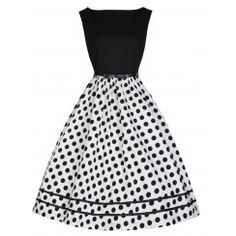 'Audrey' Monochrome Swing Dress