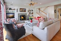 southern living  room decorating ideas | traditional living room design by orange county interior designer ...