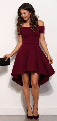 Lovely Cute Prom Dress,Cheap Prom Dress,Wine Red Sexy Prom Dress,High Low Prom Party Dress,Burgundy Homecoming Dress,Sweet 16 Dress