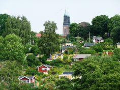 Koloniomrade -Tiny vacation houses in Sweden