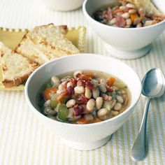 bean and bacon soup with cheese toasts bean and bacon soup cheese ...