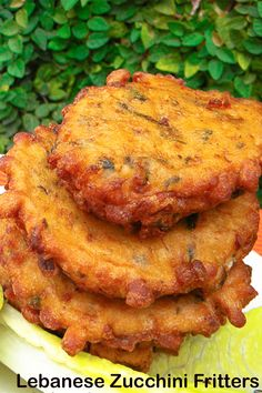 """Lebanese Zucchini Fritters, an old-fashioned Lebanese fritter and a comfort meal that I grew up eating – great for gatherings … soft in the middle with crispy bits on the edges. These fritters are called """"eggit koussa"""". Zucchini Fritters, Lebanese Recipes, Side Dishes, Middle, Meals, Zucchini Tots, Meal, Yemek, Zucchini Pancakes"""
