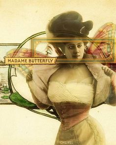 Madame Butterfly by Fiona Randall Images from Tumble Fish Studio kits at DeviantScrap.com