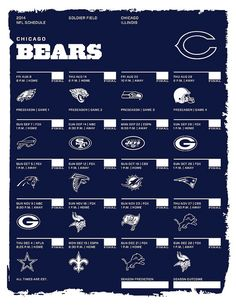 Chicago Bears 2014 NFL Schedule