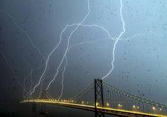 Bay Bridge Lightning, San Fransico