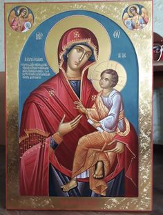 Religion Tattoos, Religion Catolica, Byzantine Icons, Byzantine Art, Mary And Jesus, Orthodox Icons, Blessed Mother, Mother Mary, Religious Art