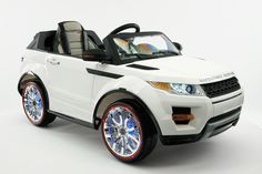 Range Rover Style Battery Powered Kids Electric Ride-On Car with Player, FM Radio, LED Wheels with Full Function Parental Remote Control ** Check this awesome product by going to the link at the image. (This is an affiliate link) Rc Cars And Trucks, Pocket Bike, Range Rover Evoque, Range Rovers, Power Wheels, Electric Skateboard, Jaguar Xk, Kids Ride On, Ride On Toys