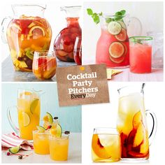 The easiest signature party cocktail comes in a pitcher! Get our favorite party pitcher cocktail recipes here.