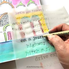 Stenciling can be done with a pen and a StencilGirl stencils in an art journal!